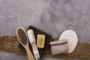 dry shampoo and zero waste bathroom supplies